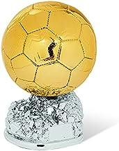 Rollio - Trofeo coppa calcio - Realizzata in resina laminata oro e argento - PERSONALIZZABILE tramiet targhetta inclusa ne...