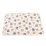 Coperta per animali domestici, coperta per gatti e cani, coperta in velluto corallo, beige
