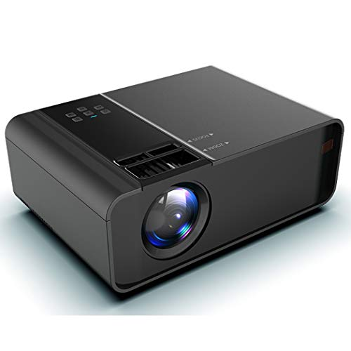JCSW Proyector, Proyector WiFi, Mini Proyector Portátil Soporte Full HD 1080P, 8000 Lúmenes Proyectores Home Cinema, Compatible con TV Stick, PS4, USB, HDMI, SD, AV, White, Q020JY
