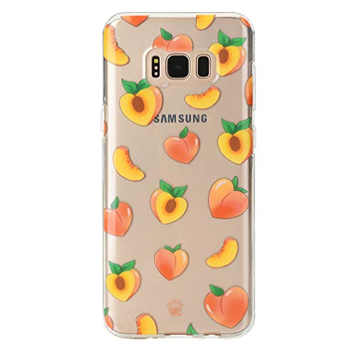 Velvet Caviar Compatible with Samsung Galaxy S8 Case Peach Clear for Women & Girls - Cute Protective Phone Cases [Drop Test Certified] (Peachy Orange)
