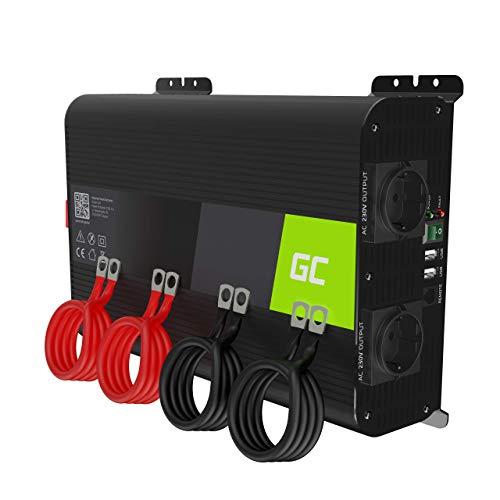 Green Cell PRO 2000W/4000W 12V 220V/230V Onda Pura Inverter Invertitore di Tensione Fotovoltaico DC AC per Camper Auto Convertitore di Potenza, Trasformatore sinusoidale Pura USB