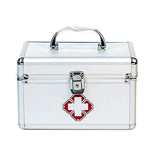 YSDHE Erste-Hilfe-Set Abschließbare Erste-Hilfe-Box Sicherheitsschloss Medizin Aufbewahrungsbox mit tragbarem Griff for Auto, Zuhause, Reisen, Camping, Büro oder Sport