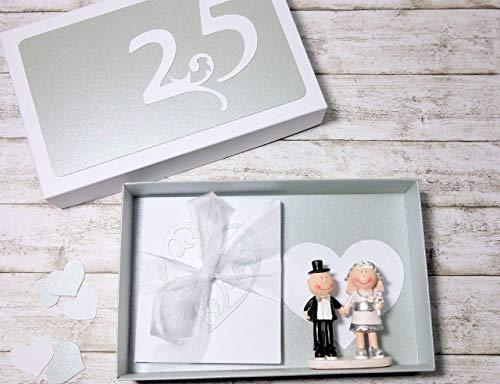 Geldgeschenk Geschenk zur Silberhochzeit Silberne Hochzeit Verpackung