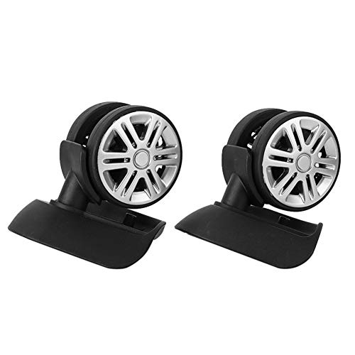 Fournyaa Long Service Life Luggage Wheels, Mute Luggage Wheels, Firm for Travel Luggage Suitcase Replacement Practical Accessory(A65 large black)