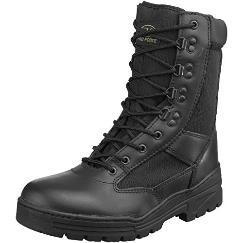 Highlander Boys Alpha Military Leather Lace Up Winter Walking Boots