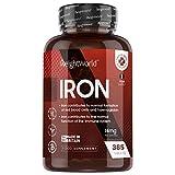 Hierro suplemento 14 mg 365 comprimidos de hierro vegetal - suplemento de hierro vegano para un año, para energía concentración y memoria contribuye al funcionamiento normal del sistema inmunitario