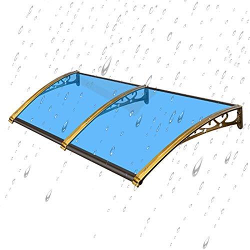 Auvent de Porte Entrée Marquise QIANDA Extérieur DIY La Fenêtre Porte Store Soleil Bouclier Pluie Couverture Protecteur De Toit, Bleu (Size : 240cm x 60cm)