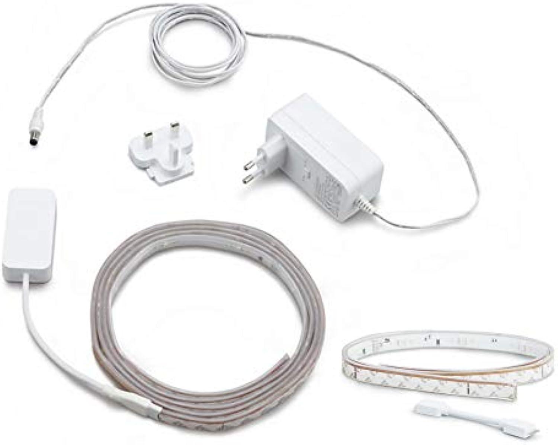 Philips Hue Lichtstreifen 3 Meter Set (1 x 2m + 1 x 1m), flexibel erweiterbar, dimmbar, bis zu 16 Millionen Farben, per Hue-Bridge (nicht inkl.) steuerbar via App, Smartphone, Tablet & Sprache
