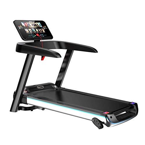 XFGG Cinta de correr eléctrica profesional, plegable, con 8 programas deportivos, pantalla a color, diseño silencioso, 2,5 hp, 3 inclinación ajustable, 3D, simulación de deportes familiares, fitness