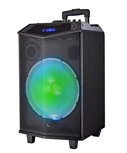 Sytech - SY-XTR32 Prism - Altavoz Trolley Profesional 100w, Color Negro - Altavoz Bluetooth v4.2 Inalámbrico Desde un Móvil, Tablet