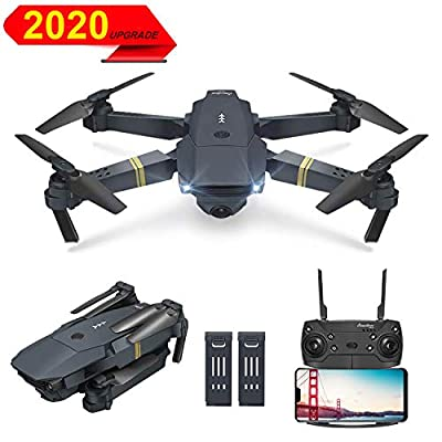 OBEST Drone with Camera,720P HD Drone for Kids Adults, Foldable WiFi FPV Remote Control RC Quadcopter Drone,Real-time Transmission, Altitude Hold, One-Key Take-Off (Carrying 2 Batteries)