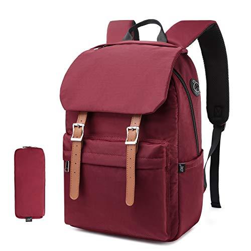 Schulrucksack, Rucksack Schule für Jungen Mädchen Teenager Für 14-Zoll-Laptop, Vintage wasserfeste Casual Daypack für Damen Herren