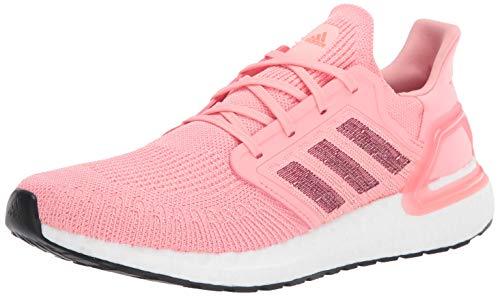 adidas Women's Ultraboost 20 Running Shoe, Glory Pink/Maroon/Signal Coral, 10.5 M US