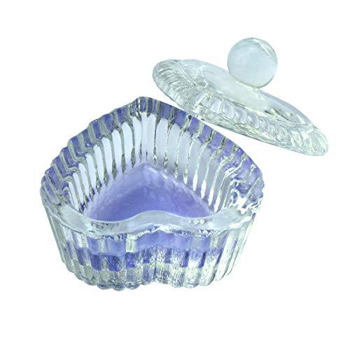 Sweet Heart Crystal Clear Acrylic Liquid Powder Glass Dappen Dish Glass Cup w Cap Lid Bowl for Acrylic Nail Art Transparent Kit, HJ-NAPB018(Clear)