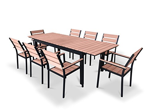 Urbanfurnishing Net 9 Piece Eco Wood E Buy Online In United Arab Emirates At Desertcart
