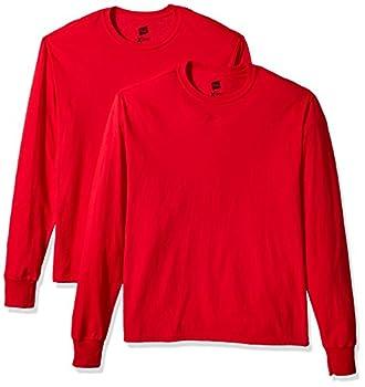 Hanes Men s 2 Pk X-Temp Long Sleeve Tee Salsa Red XXX-Large