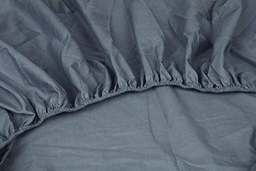 Kayori Shizu Spannbetttuch für Topper Größe 200x200cm Farbe Blau Perkal Baumwolle Boxspringbett