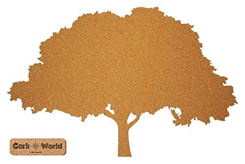 Boom kurk XXL 85 x 55 cm | Omscheurbare boom pennen en als wanddecoratie | Leuke CORKWORLD prikbord | Gedetailleerde & Hoogwaardig | Voor natuurliefhebbers en decoratieve liefhebbers – kurk