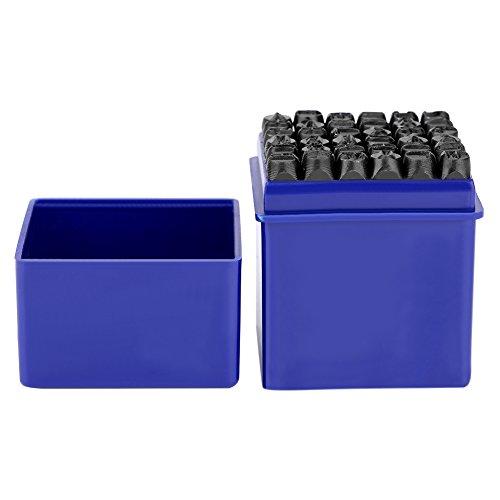 SKIESOAR Metallstempel, 36 Stück Zahlen und Buchstaben Briefmarken Kohlenstoffstahl Material Einschließlich A-Z 0 bis 8 für Beschriften und Anpassen von Kunsthandwerk Verwenden 6mm