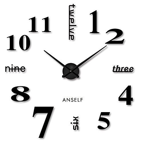 Anself ¡Moderno! DIY Reloj pared extraíble creativo