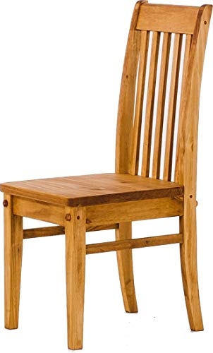 Brasilmöbel 2X Esszimmerstuhl Classico Honig - Holzstuhl Klassik Pinie Massivholz Echtholz - Variante & Farbe wählbar - Stuhl Holz Wohnzimmerstuhl Lehnenstuhl Lehne Küchenstuhl Landhaus