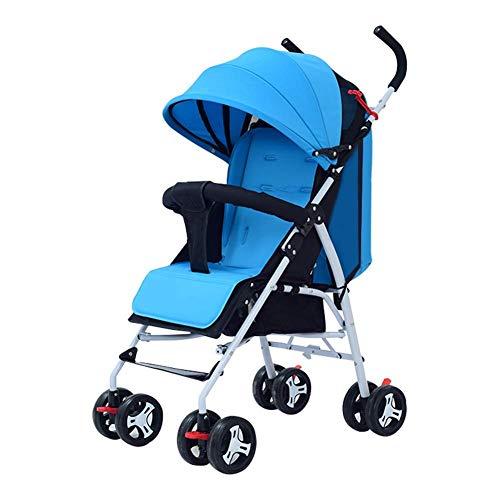 Poussette légère Baby Sport, dès la naissance, pliage Sit Lie Easy Trolley, 63x47x103cm (Couleur : Bleu)