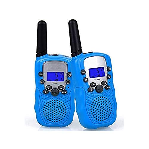 Lkk Niños walkie talkies, 8 Canales 2 vías de Radio de Juguete los niños, para la Supervivencia del Campo Camping en Bicicleta y rutas,Azul