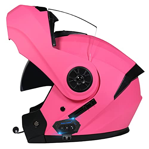 ABDOMINAL WHEEL Bluetooth Integrado Casco De Moto Modular,Cascos De Motocicleta con Doble Visera,Unisex para Respuesta Automática Bluetooth Casco,ECE Homologado Casco De Moto C,L=59~60CM