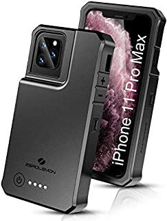 ZEROLEMON iPhone 11 Pro Max Battery Case 10000mAh, RuggedJuicer Qi Wireless Charging & Lightning Headphone Supported, Extended Battery Charger Case for iPhone 11 Pro Max 6.5