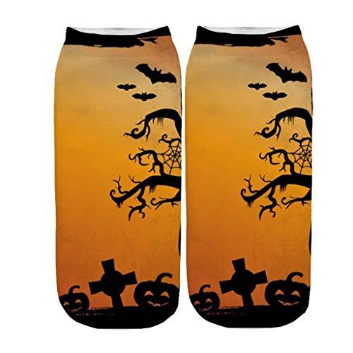 YWLINK Calcetines De Halloween Impresos En 3D Disfraz De Halloween Calcetines De Fiesta En Medias Calcetines Deportivos