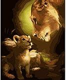 LEIWUQIZ Stare DIY Pintura Digital muralAdultos Niños Pintura Digital Set Decoración Regalos 40X50Cm