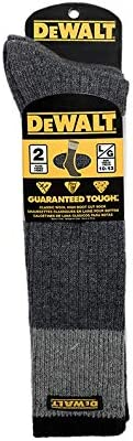 DeWALT Wool High Boot Cut Socks Grey Two Tone Premium Warm Socks for Men Moisture Wicking Wool product image
