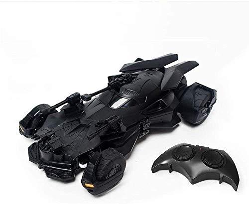 Zhangl Justice League Batman Toy télécommande de Voiture 01:18 Batmobile 2.4G RC véhicule Stunt véhicule Radio Rechargeable Enfants Contrôlé électrique de Course Cadeaux for Garçons Filles Enfants