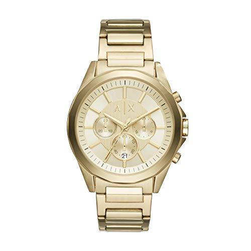 Armani Exchange Herren Chronograph Quarz Uhr mit Edelstahl Armband AX2602