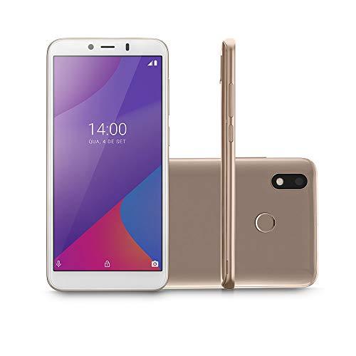 Smartphone Multilaser G Max 4G 32GB Tela 6.0 Pol. Octa Core Android 9.0 GO Dourado - P9108