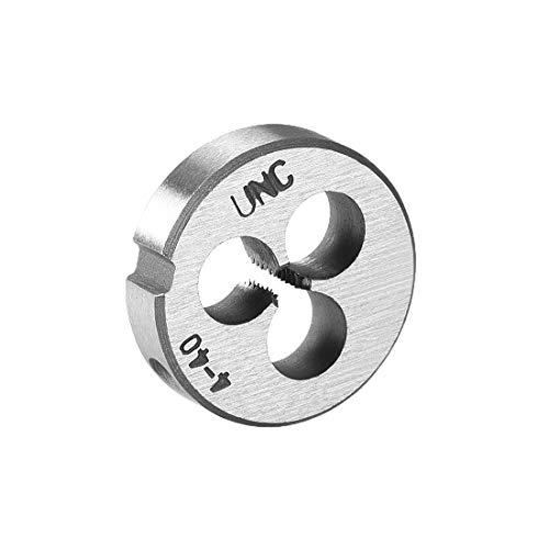 uxcell 4-40 UNC Round Die, Machine Thread Right Hand Threading Die, Alloy Steel