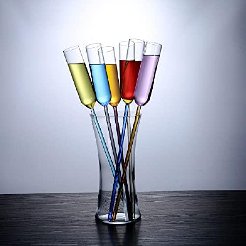 Copas de vino 6 piezas colorido Copa de playa Copa de cristal Copa de champán Copa de cóctel Copa de vino con Bar Party Cup