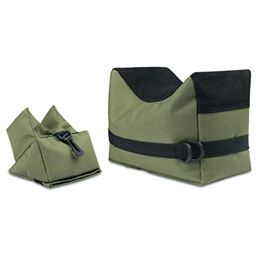 Twod 900D Oxford Outdoor Shooting Rest Bags Rest Front & Rear Support SandBag Stand Holders with 900 Denier Polyester Durable Construction and Water Resistance for Rifle Hunting- Unfilled-Army Green