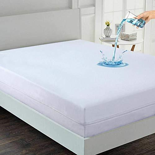 Elafy Premium Line - Funda de colchón antichinches, antialérgico, impermeable, con cremallera, para un estilo de vida saludable (doble)