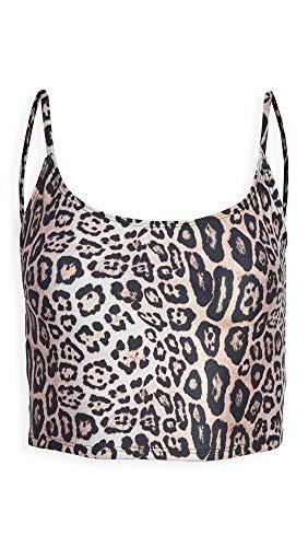 Onzie Damen Belle Cami Crop Sport-BH, Leopard, small