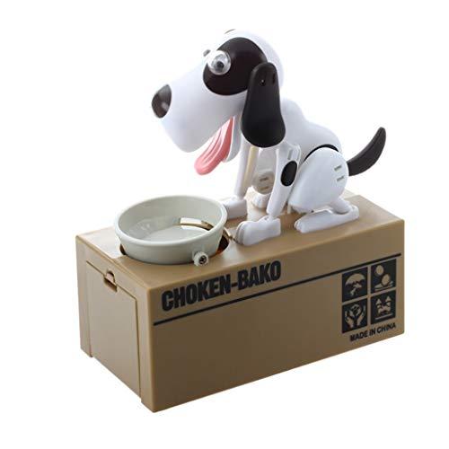 Robot del Perrito de la alimentación eléctrica Hucha con Monedas Hucha Anti-caída...