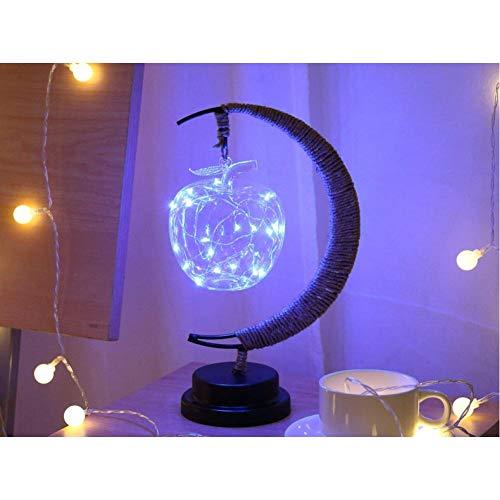 Led Lamp Stars Maanlicht Rotan Bal Kerstverlichting Kinderen Verjaardagscadeau Handgemaakt Henneptouw Usb Smeedijzeren Nachtlampje