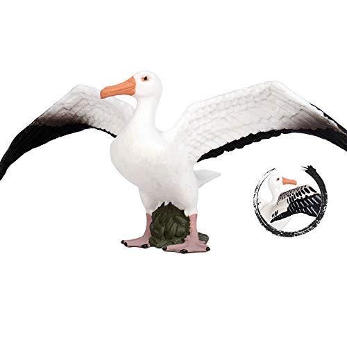 Flormoon Albatros figuur realistische dierenbeeldjes vroege educatieve vogel speelgoed wetenschap Project kerst verjaardagstaart Topper Baby douchegift voor kinderen peuter