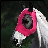 Hainice Mascarilla de Mosca de Caballo Cara de Caballo Cubierta de Mosca Antiinsect Elástico Malla Fina Malla de Caballo Protector de Protector para Pony Pony Red