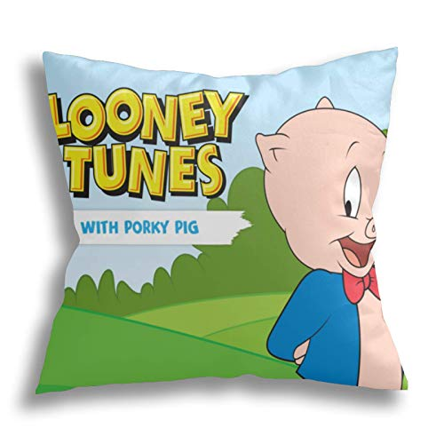Joemary Cartoon Pigs Pillow Case Polyester Cushion Cover for Home Sofa Bedroom Decoration 20' 20' inch