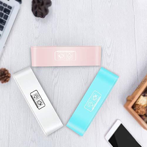 Digitale wekker, digitale led-wekker met USB-aansluiting voor het opladen van de telefoon 12-24 uur Instelbare alarmsterkte, snooze/5 kleuren, omgevingslicht, eenvoudig voor kinderen, senioren en ouderen.