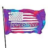 Bandera Americana Powerstroke Cuelga Bandera Americana 3x5 al aire libre Inicio Jardín Bandera Bandera Bandera Bandera de Estados Unidos Bandera Decorativa 3 X 5 pies Banner