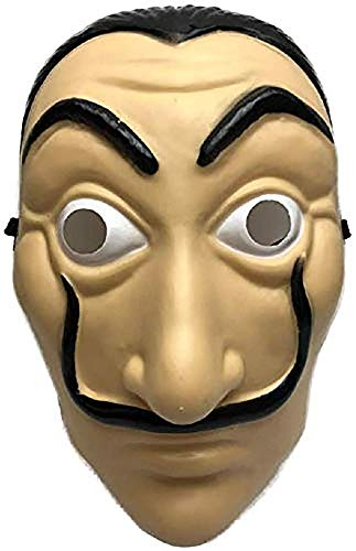 Shop Due Mari Maschera Carnevale, Halloween, Salvador Dalì in PVC Alta Qualità, Dalì Mask