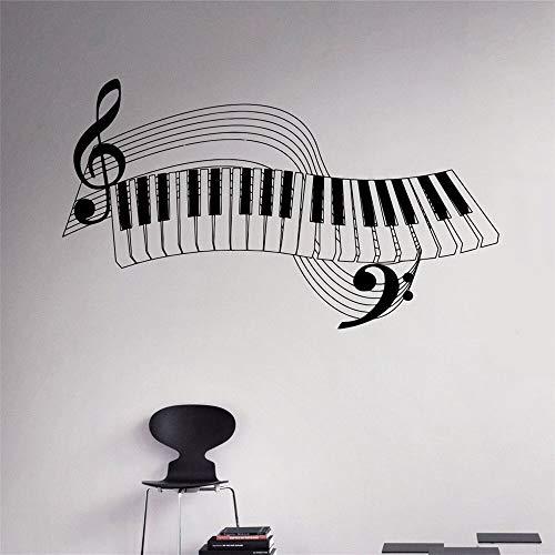 hetingyue Piano key music instrument vinyl sticker muursticker interieur muur kunst muurschildering muursticker familie product design