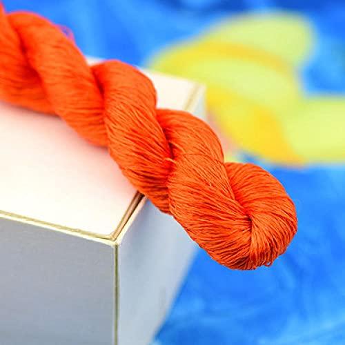 Nuevo bordado de seda de 400 m / hilo de seda 100% / hilo de seda bordado Spiraea bordado a mano bordado punto de cruz-8-10